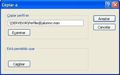 Creación de Perfiles móviles en Windows 2003 Server