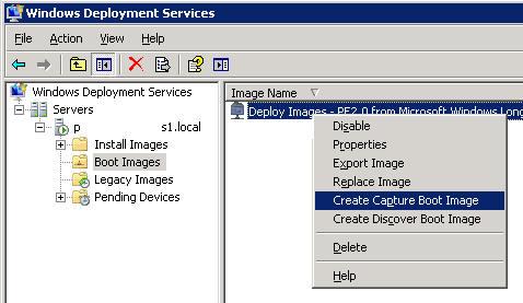 Imagen personalizada en servicios de implementación de Windows (WDS) 2008