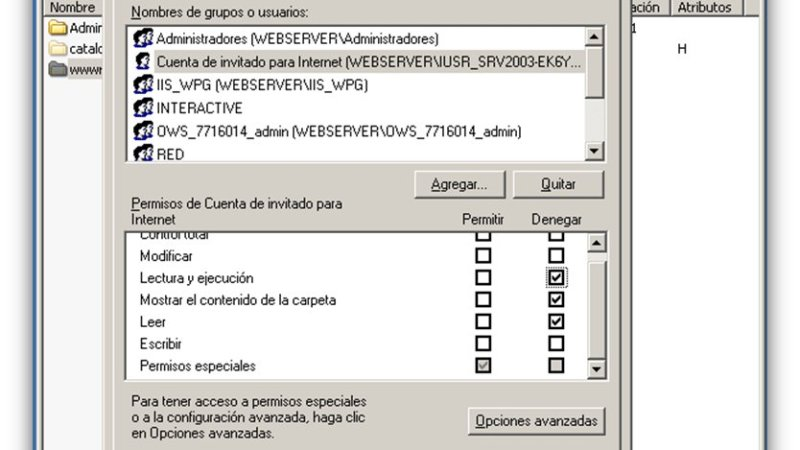 Permisos NTFS Windows