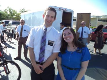 With Elder Sawyer Davis, my friend from high school in Boise. We used to be in the same ward!