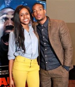Student host Ta'Kaiya Jackson with Marlon Wayans at CAU