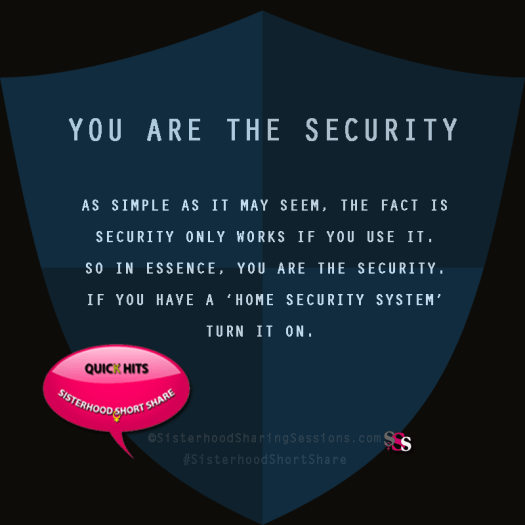 You Are The Security