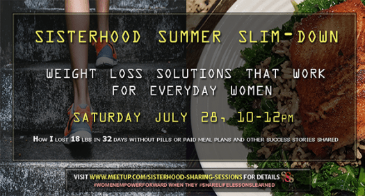 Sisterhood Summer Slim-Down | Sisterhood Sharing Sessions