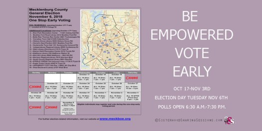 Be Empowered Vote Early | Mecklenburg County Voting Schedule
