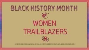 Black History Month-Women Trailblazers