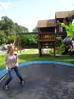 We had a Zone Activity last PDAY at a members house and they had a trampoline. IT'S BEEN SO LONG. I was jumping on it with Sister Dunn :)