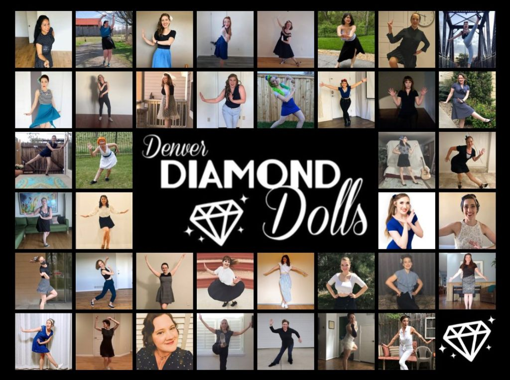 Screenshot showing some of the many amazing dancers of the Denver Diamond Dolls