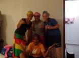 Sister Johnson, Sister Mendes, Sister Runyan (back) and Sister Da Luz (front)