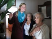 Sister Schill with some sisters from the ward.