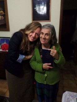 Me with Maria de Jesus. We love her. She's Beatriz and Tereza´s mom.