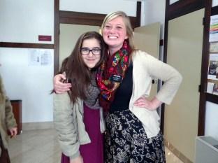 Sister Schill with Andreia Cruz