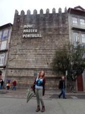 In front of the castle in Guimarães.
