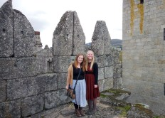 Sister Runyan and Sister Parkinson at The Castle of Guimarães