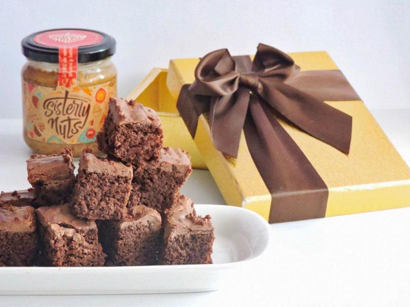 Brownies gluten free navideños con Sisterly Nuts