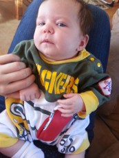 Packers lost on this game day. Saige was dissapointed.