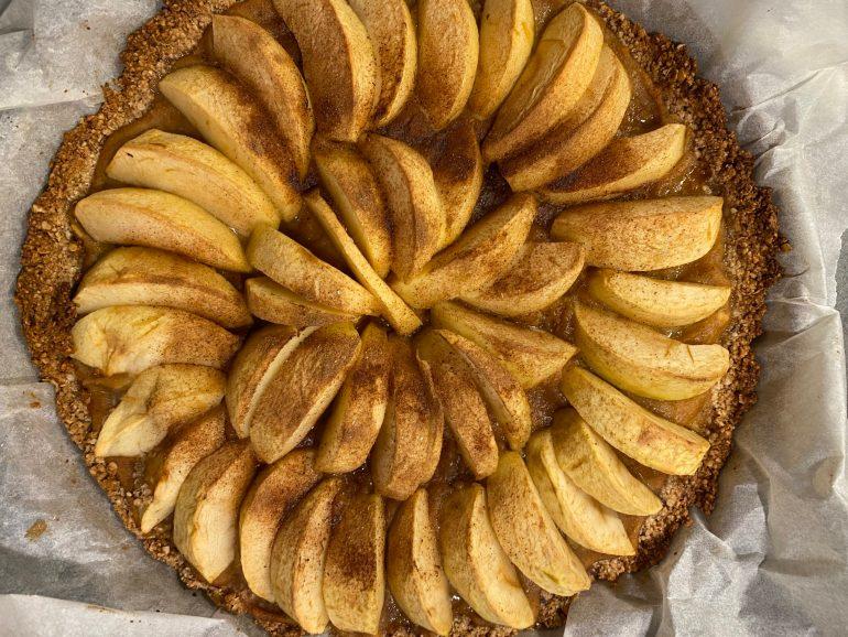 Tarte «crumble» aux pommes