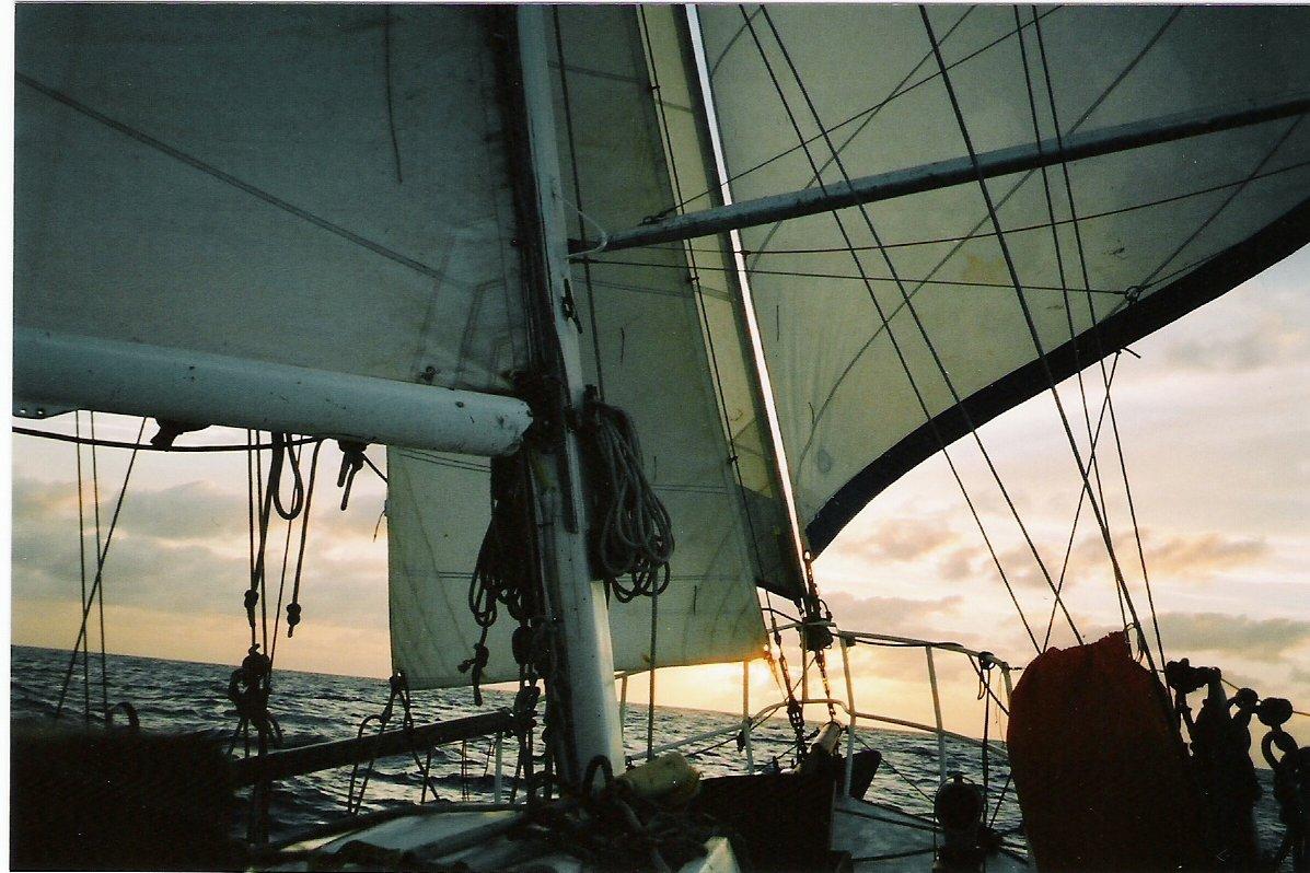 Mariah under sail