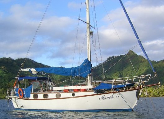 Anchored in at a south pacific island