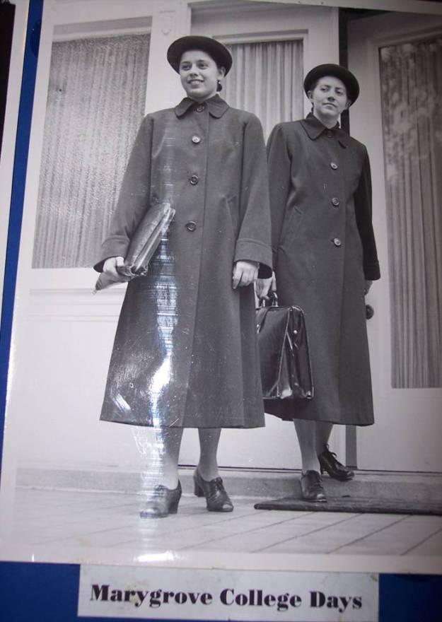 Sr. Rosemarie Abate and Sr. Mary Frances Roberts, in original HVM habit