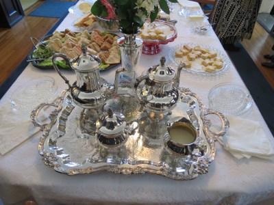 Beautiful tea service courtesy of Phyllis Barkey