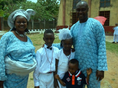 Okuta Family David and Clare 1st Communicants