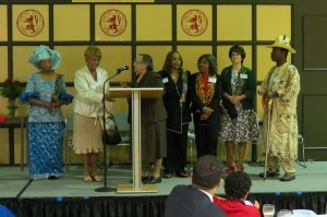 Sr. Rosemarie and fundraising committee honoring Beatrice Cochran, long time chairperson