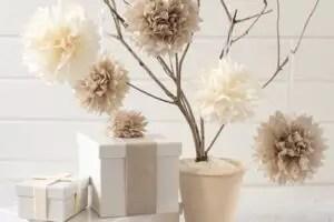easy diy paper tissue flower decorations