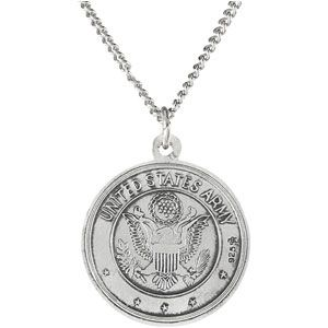 Saint Christopher US Army Medal Necklace