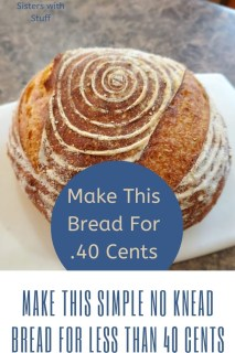 Simple 3 Ingredient no knead dutch oven bread