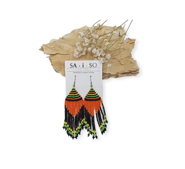 Saida- Beaded Large Earrings