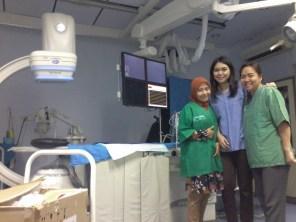 Stase Radiologi Intervensi dengan dr.Trilia dan dr. Kirana. Lokasi : IDIK