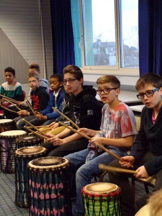 Initiation dum-dum auprès de collégiens de Lorient