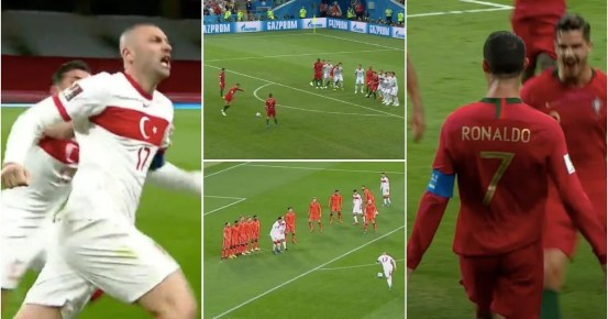 Burak Yilmaz's hat-trick in the Netherlands was very similar to that of Cristiano Ronaldo against Spain