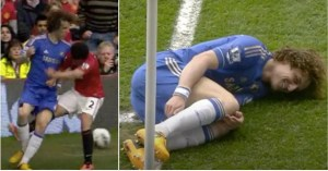 David Luiz: When the defender expelled Rafael from Man Utd