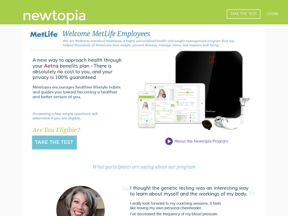 Site Internet Santé – Newtopia