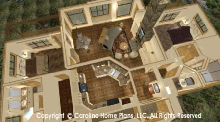 HOUSE PLANS WITH SPLIT BEDROOM LAYOUTS   House Plans By Category LG 2810 Split Bedroom House Plan