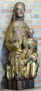 Vierge à l'enfant assise, XIVème