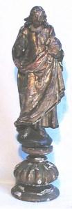 Statuette de Christ XVIème avant restauration