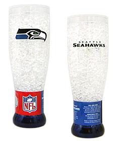 Seattle Seahawks Crystal Pilsner Glass