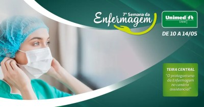 Marciano de Almeida Cunha abre o ciclo de palestras da 7a Semana da Enfermagem da Unimed Litoral
