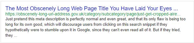 Web sayfalarınızın başlıklarını, açıklamalarını ve URL'lerini doldururken karakter sınırlarını aşmayın.