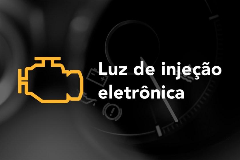 imagem do símbolo da luz de injecao eletronica no painel do veiculo