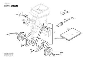 Bosch AXT 1630 (0600851042) Chopper Diagram 2 Spare Parts