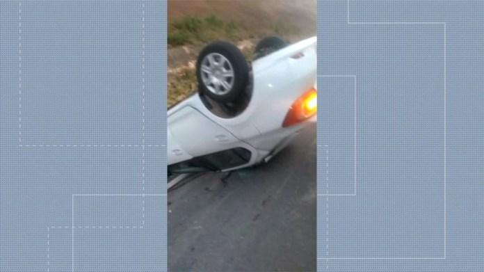 Servidor da prefeitura de Conceição da Barra morre em acidente de carro — Foto: Reprodução/ TV Gazeta