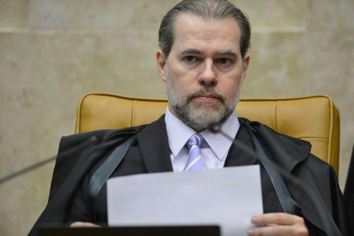 O presidente do STF, ministro Dias Toffoli, durante  abertura do terceiro dia de julgamento, sobre a validade da prisão em segunda instância no Supremo Tribunal Federal (STF)