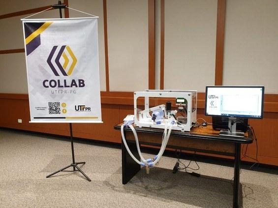 Protótipo de respirador. Foto: UTFPR