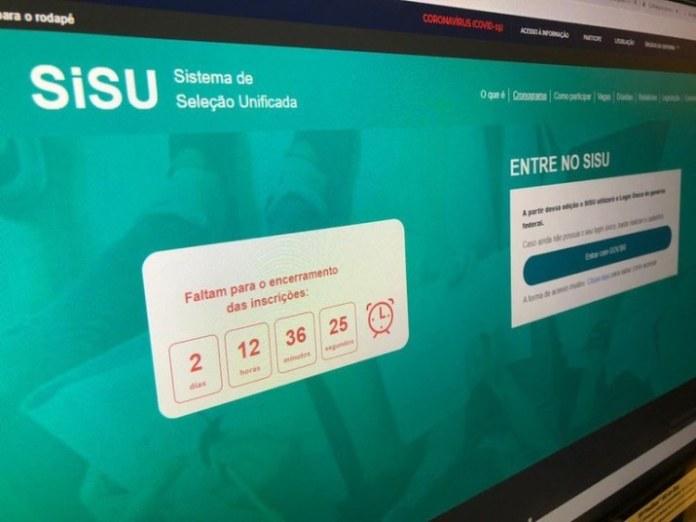 Inscrições para o Sisu estão abertas até sexta-feira (10)