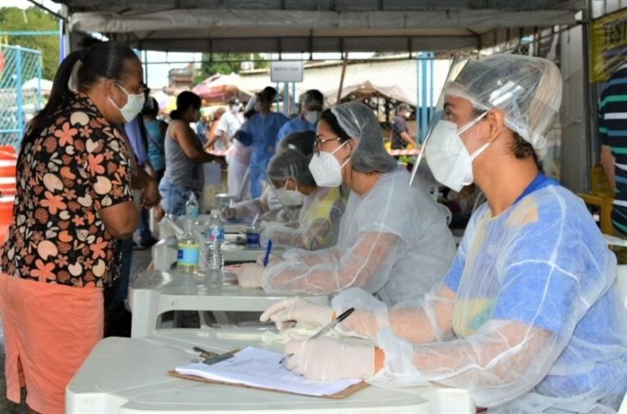Testagem em Alagoinhas (BA). Foto: Roberto Fonseca