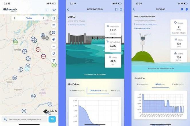 Aplicativo Hidroweb Mobile