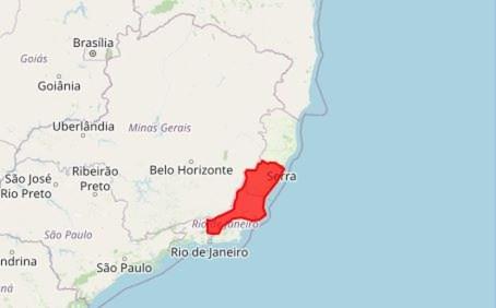 """Inmet alerta para """"grande perigo"""" em municípios do ES — Foto: Reprodução/ Inmet"""